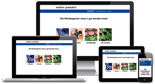 Webdesign mit Responsivem Layout